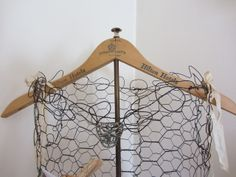 DIY Dress Form / Display: Dress form made with Chicken Wire