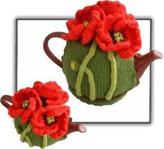 Quick & easy to make this 4-6-cup Tea Pot Cosy called Poppy Tea Cosy  Not only make it for yourself, but what a lovely birthday or special gift to
