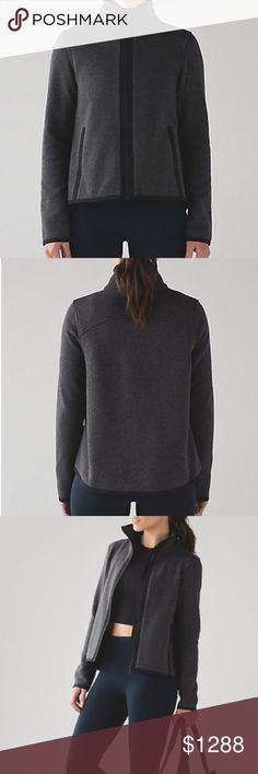 Lululemon Its Fleecing Cold Zip Up NWT/12 HBLK/BLK Lululemon Its Fleecing Cold Zip Up NWT/12 HBLK/BLK.  ✅ALWAYS OPEN TO OFFERS-unless marked firm on price ✅OFFERS SHOULD BE MADE THROUGH POSH OFFER FEATURE ✅PRICES NOT DISCUSSED IN COMMENTS  ✅FEEL FREE TO ASK ANY QUESTIONS  ✅Photos from the Internet could vary slightly from the item that is being shipped  ❎NO TRADES lululemon athletica Jackets & Coats