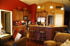 My beautiful, red kitchen!