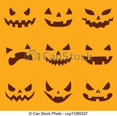 scary pumpkin faces to draw - Google Search                                                                                                                                                     More