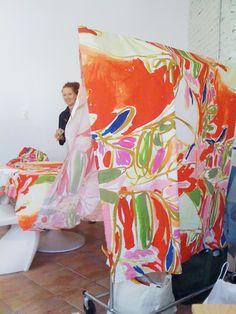 """Paulina"" print fabric, Harvey Faircloth S/S 2010. artwork by Paulina Reyes http://www.paulinareyes.com/ #fabrics #textiles #patterns"