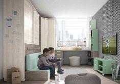 Camas Abatibles, la mejor opción para habitaciones juveniles pequeñas Camas Murphy, Cuisines Design, Home Office, Bean Bag Chair, House, Furniture, Home Decor, Bedroom Ideas, Baby
