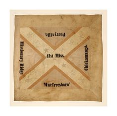 Flag of the Regiment, Mississippi Infantry. Accession number: (Museum Division collection) A number of Mississippi regiments fought in the Chattanooga Campaign, including the Mississippi Infantry whose flag is pictured here. Confederate States Of America, Confederate Flag, Mississippi Flag, Civil War Flags, Southern Heritage, Civil War Photos, American Civil War, Civilization, Genealogy
