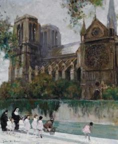 Notre-Dame de Paris #2 by Jules-René Hervé (French 1887 - 1981)