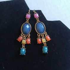 Nwt boho earrings New never worn. Great with everything. Adds a pop of color to your face.   Jewelry Earrings