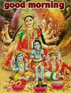 Durga with Baby Vishnu,Shiv,Brahmha Maa Durga Image, Durga Maa, Maa Image, Jai Hanuman, Durga Images, Lord Krishna Images, Indian Goddess, Goddess Lakshmi, Hindus