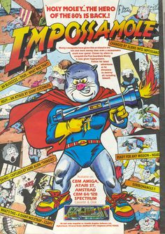 Impossamole We had this for the TurboGrafx 16 and it was uber annoying. I recall a lot of falling on spikes and prolonged pushbacks whenever you got hit. Retro Video Games, Video Game Art, Retro Games, Arcade, Turbografx 16, Nintendo, Pc Engine, Old Games, Games Box