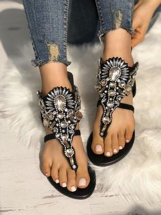 Shop Exaggerated Shiny Patchwork Toe Post Flat Sandals right now, get great deals at Joyshoetique. Shop Exaggerated Shiny Patchwork Toe Post Flat Sandals right now, get great deals at Joyshoetique. Women's Shoes, Mules Shoes, Golf Shoes, Shoes 2017, Sports Shoes, Platform Shoes, Wedge Shoes, Miller Sandal, Walking Shoes