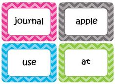FREE Editable Flash Cards - Sight Words - Math Facts - Word Walls ...