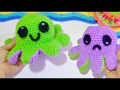 PULPO REVERSIBLE FACIL!! - YouTube Crochet Baby, Crochet Projects, Free Pattern, Diy And Crafts, Projects To Try, Lily, Hats, Creative, Crochet Table Runner
