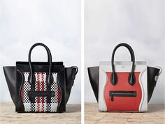 celine boston mini luggage tricolor