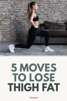 If you want long, lean, strong legs, you don't need an arsenal of different moves. All you need is a combination of fat-burning cardio moves and exercises that target your hamstrings and quads. Loose Leg Fat, Lose Thigh Fat, Lose Belly Fat, Lose Fat, Lose Weight, Skinny Thigh Workouts, Thigh Exercises, Stomach Exercises, Leg Workouts