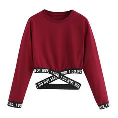 Crop Sweatshirt Women Hoodies Winter Pullover Harajuku Moletom Autumn Letters Hoodies Clothes Sudadera Mujer Size S Color Red Crop Top Hoodie, Crop Top Und Shorts, Cropped Hoodie, Crop Tops, Hoodie Sweatshirts, Printed Sweatshirts, Jugend Mode Outfits, Winter Hoodies, Fitness