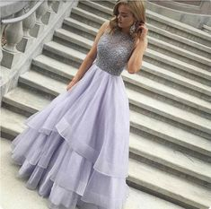 "promdress-lovedress: ""Light purple tulle long prom dress """