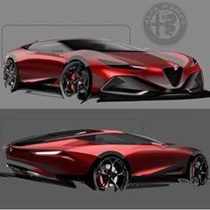 Alfa Romeo By Black Modern Credit Car Design Sketch, Car Sketch, Yacht Design, Automobile, Industrial Design Sketch, Futuristic Cars, Unique Cars, Car Drawings, Future Car