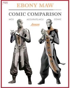 """4,376 Likes, 48 Comments - • Accurate.MCU • mcu fanpage (@accurate.mcu) on Instagram: """"• EBONY MAW - COMIC COMPARISON • I NEED THE INFINITY WAR TRAILER RIGHT NOW!!! It sounds so good!…"""""""