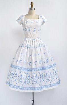 ★ vintage 1950s dress | Blossom of Summer Dress | www.adoredvintage.com