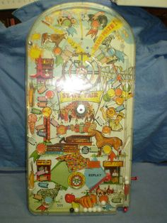 "Vintage Pinball State Fair Bagatelle Marx Toys 24 1/2""  Antique Pinball Machine"