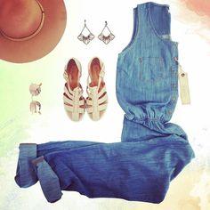 LOOK INSPIRAÇÃO Tharog!! Só ELE... Macacão Jeans... LINDOOO... GLAMOUROSO…