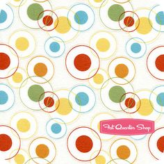 Flannel Savanna Bop Multi Circle Dots Yardage SKU# 5661-M-F - Fat Quarter Shop