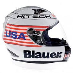 Casque Integral Blauer Force One White USA http://www.icasque.com/Casque-moto/Integral/Force-One-White-USA/