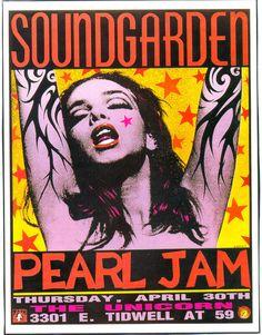Soundgarden/Pearl Jam concert poster