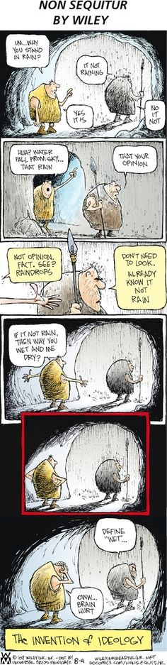 The invention of religion.  hahahahaha - and teabaggers and Bill O'Reilly and Faux News and fundies -