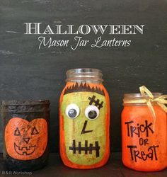 DIY Halloween Mason Jar Lanterns (Tutorial)