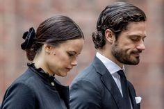 APRIL 09: Princess Sofia of Sweden and Prince Carl Phillip of Sweden attend the city of Stockholm's official ceremony for the victims of the recent terrorist attack on April 10, 2017 in Stockholm, Sweden. Four people died and fifteen were injured after a hijacked truck crashed into the front of Ahlens department store in Stockholm on April 7, 2017.