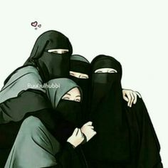 Semoga seperti ini trs y tmn Hijabi Girl, Girl Hijab, Baby Hijab, Friend Cartoon, Girl Cartoon, Muslim Girls, Muslim Women, Hijab Drawing, Best Friend Drawings
