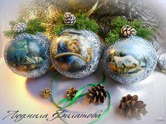 """Шары """"Морозные узоры"""" #новогоднее"""