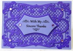 Thank you card made with Marianne Creatables dies