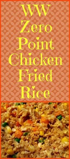 Enjoy this chicken fried rice recipe using riced cauliflower instead of the traditional rice. It is zero points on the Weight Watchers Freestyle program!