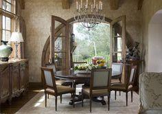 French interior  LOVE THE ROUND DESIGN fo rthe door/windows!!!   - Slifer Designs