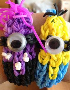 Minions rainbow loom
