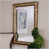 Uttermost Paglia Wall Mirror in Golden Bronze - 14611