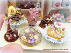 Miniature food, easter, spring, paris miniatures