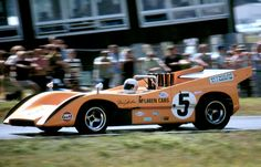 THIS is DENNY HULME in a McLAREN can am racer in 1970 or 71.