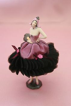 Pink and Black Half Doll Pin Cushion Very Unique | eBay