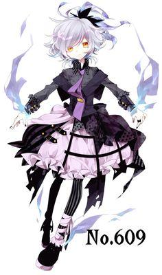 Pokemon 609 gijinka. I really like the outfit design on this one.