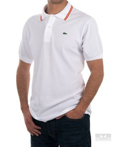 Polo Lacoste Bandera de España - Blanco Polo Tees, Polo Shirt, Polos Lacoste, Fashion Maker, Beautiful Dogs, Polo Ralph Lauren, Dress Up, Mens Fashion, Nike