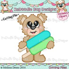 {Weekly FREE Cut File} Cutesy Popsicle Bear -- Available for FREE until Sunday, June 26
