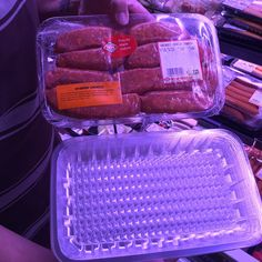 Recyclable meat trays.