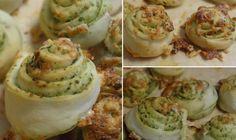 Pinwheels mit Pesto