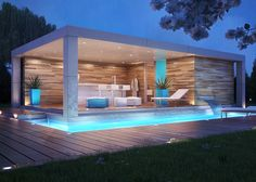 MODERN POOLSIDE GLAMOUR WITH CUSTOM POOL HOUSE
