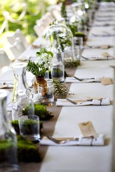 Woodland Wedding Inspiration. Natural and Rustic. Tablescape.
