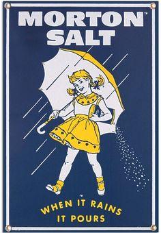 The Morton Salt Umbrella Girl  http://www.retroplanet.com/blog/retro-archives/character-of-the-week/character-of-the-week-the-morton-salt-girl/