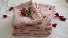 Dusty Rose Pink Duvet Set / Linen Duvet & 2 Pillow Cases /