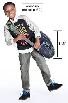 See exactly what size you need for Back to School! | Print Classmate® Messenger Bag from Lands' End